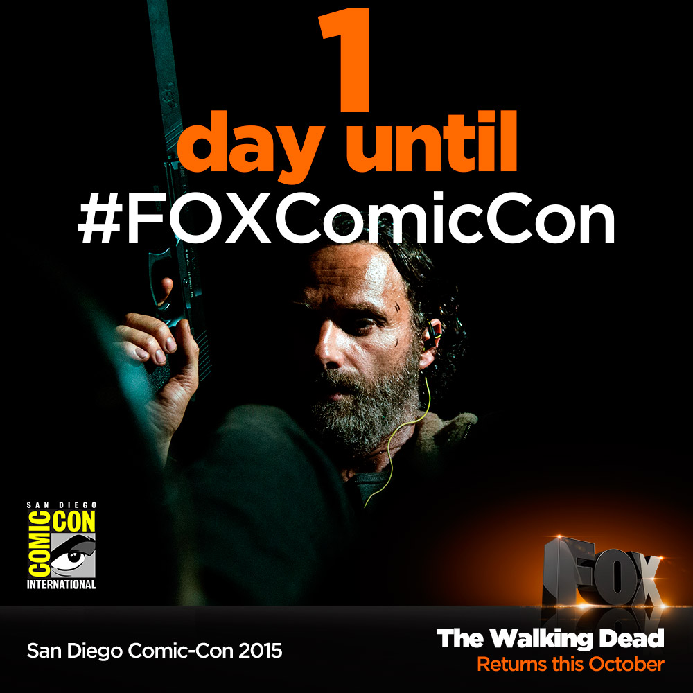 comic con walking dead countdown