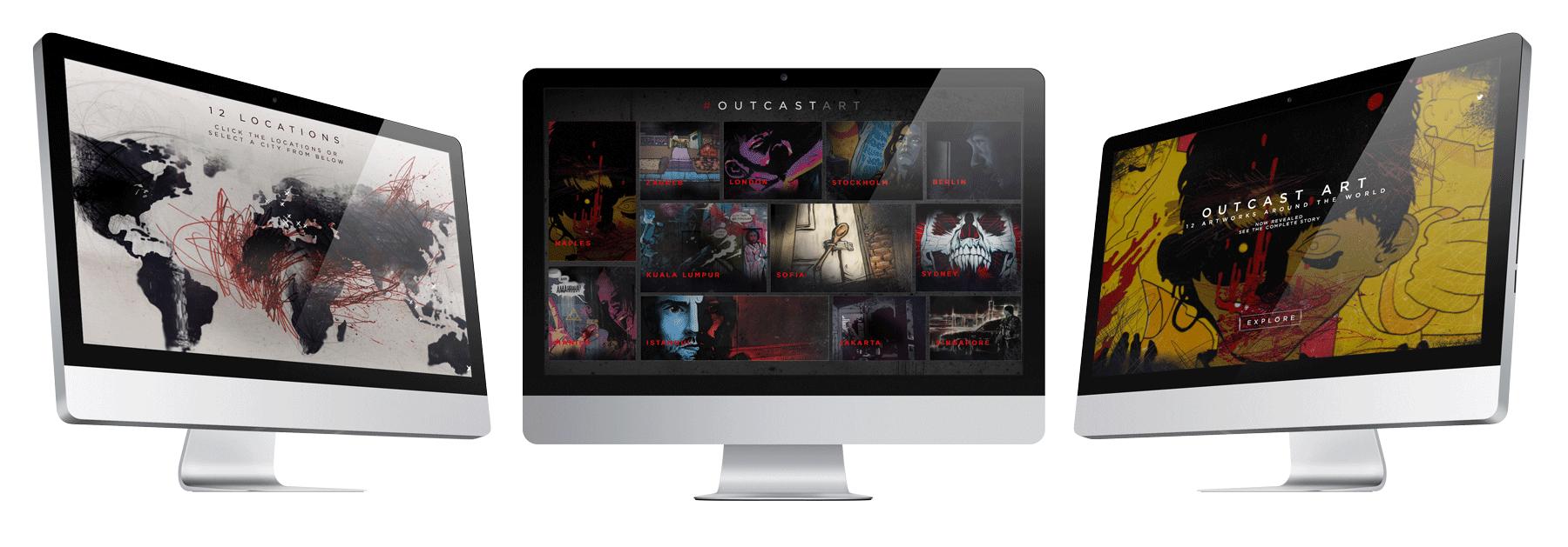 outcast art murals website