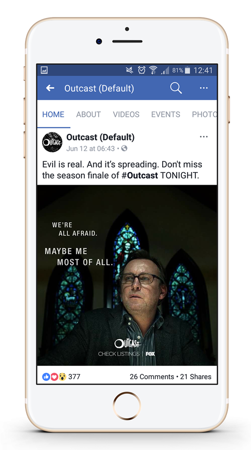 outcast season 2 facebook post