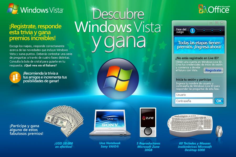 descibre windows vista concurso